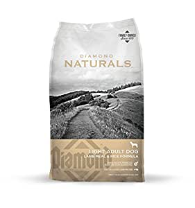Diamond Naturals LIGHT Real Meat Recipe Natural Dry Dog Food to help support Weight Management with Real Pasture Raised Lamb Protein 30lb