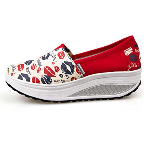 Comfort Solshine Print On Wedge Eee Sneakers Women's Platform Loafers Slip xawAagR8qr