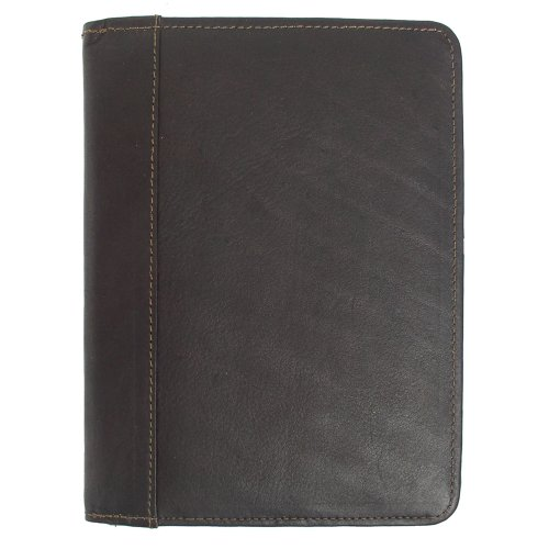 Piel Leather Letter-Size Padfolio, Chocolate, One Size