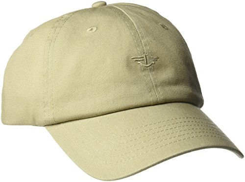 Logo Embroidered Baseball Cap - Dockers Men's Core Tonal Embroidered Logo Dad Baseball Hat, Off-White/Khaki, One Size