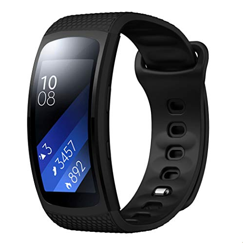 CSVK Gear Fit2/Gear Fit2 Pro Watch Band,Soft Silicone Replacement Accessories Strap for Samsung Gear Fit2 Pro SM-R365/Gear Fit2 SM-R360 Sports Fitness Smart Watch