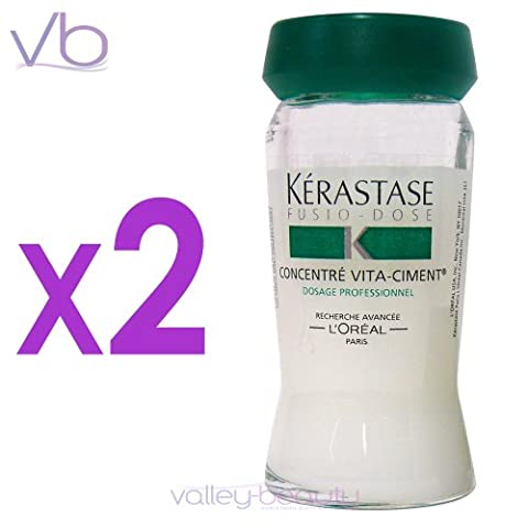 Kerastase Resistance Concentre Vita-Ciment - Reconstructive Treatment for weakened hair, 2 vials - Loreal Kerastase Resistance