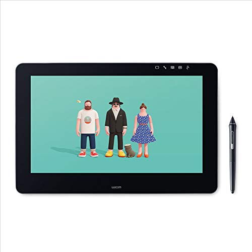Wacom Cintiq Pro 16 4K Pen Display with Touchscreen and Integrated Stand for Professional Artists and Designers Wacom Pro Pen 2 Stylus and Wacom Link Plus Adapter, Compatible with Windows and Mac