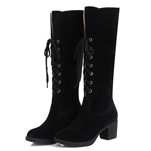 Al Lace Coolcept Ginocchio Up Black Stivali Donna qvgx8P1wF