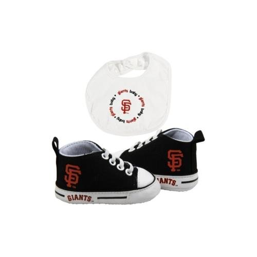Baby Fanatic BFA-SFG30002 San Francisco Giants MLB Infant Bib and Shoe Gift Set ()