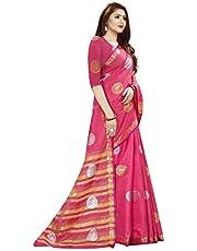 Neerav Exports Tkanjivaram Style Jacquard Saree (Pink)