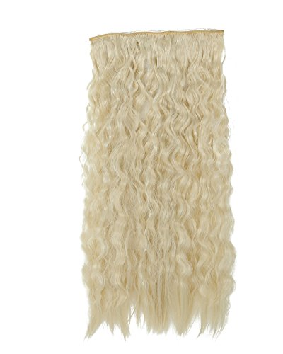 """S-noilite® Lady Sexy Stylish 22""""(55cm) Long Corn Wavy Clip-on Hair Extension Bleach Blonde"""
