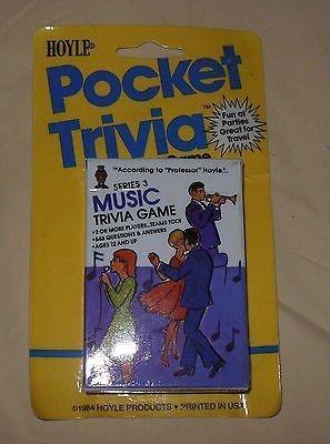 (1984 Hoyle Pocket Trivia Playing Card Game Music Series 3)
