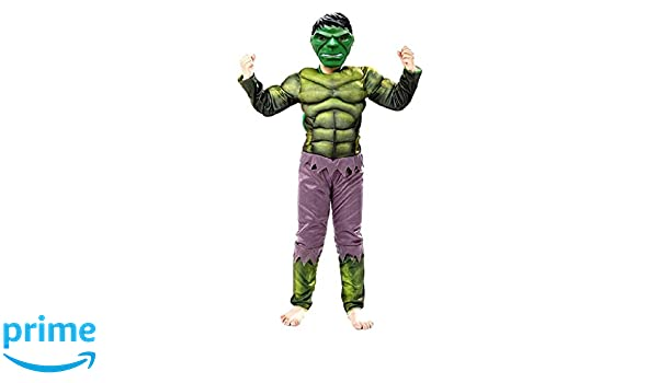 Increíble disfraz de hulk niño vestido con traje de carnaval talla ...