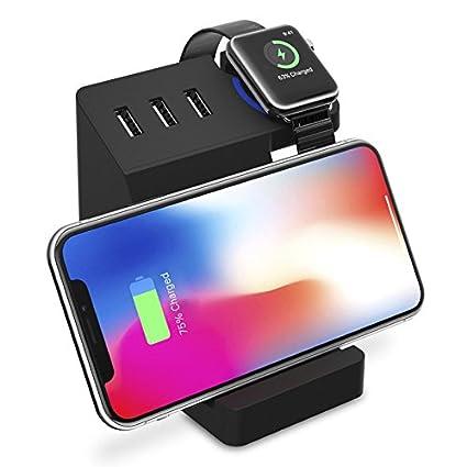Amazon.com: Chinis 3 puertos USB Qi inalámbrico de carga de ...