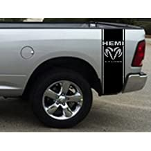 2 X stickers Truck Bed or Car Stripe Compatible with Dodge Hemi turbo Ram pick up