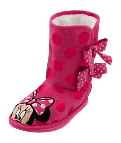 Disney Store Deluxe Minnie Mouse Fur Winter Boots (7 M US Toddler) (Minnie Mouse Rain Boots For Girls compare prices)