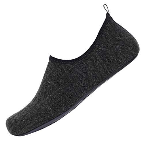 (2019 JJLIKER Women's Men Couple Double Water Shoes Barefoot Quick-Dry Aqua Socks Surfing Pool Yoga Beach Swim Shoes)