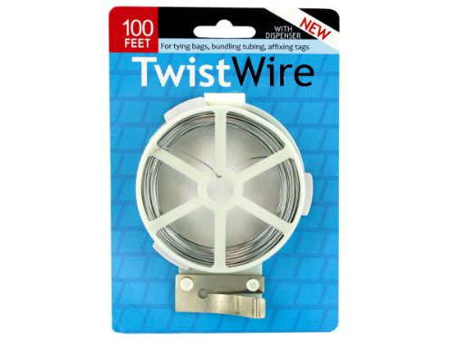 Kole Imports MR114-48 Twist Wire with Dispenser - Pack of 48