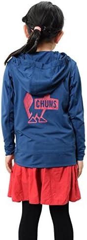 (チャムス)CHUMS ラッシュガード ジップパーカー キッズ CH20-1025 ネイビー:N001 S(90-100)