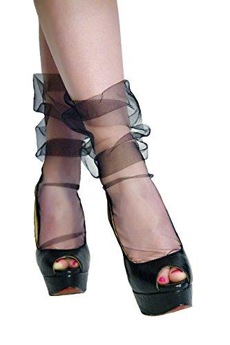 Italian Tulle (Tulle socks (Black))