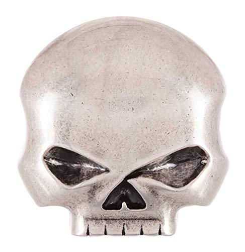 Harley-Davidson Men's Skull Rider Belt Buckle, Antique Nickel Finish HDMBU10080 (Harley Belt Buckles)