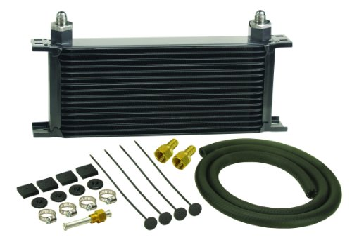 Derale 13402 Series 10000 Stacked Plate Transmission Oil Cooler 16 Row