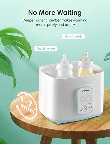 Baby Bottle Warmer and Dryer, 5-in-1 Bottle Steam Heater with Led Display, Auto Power-Off, Baby Milk Warmer for Baby Bottles Pacifiers Breast Pumps
