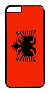 ACESR Albania Flag iPhone 6 Hard Case PC - Black, Back Cover Case for Apple iPhone 6(4.7 inch)
