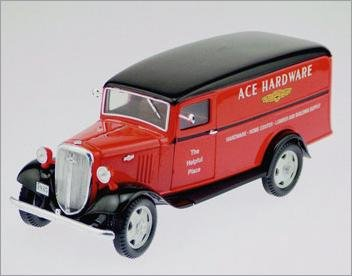 Crown Ace Hardware - 1935 Chevrolet (Ace Hardware) 1 1/2 Ton Panel Truck 1:24 Scale Die Cast Replica