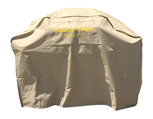 Garden Home Outdoor Grill Cover for Weber (Genesis), 52-Inch, Khaki