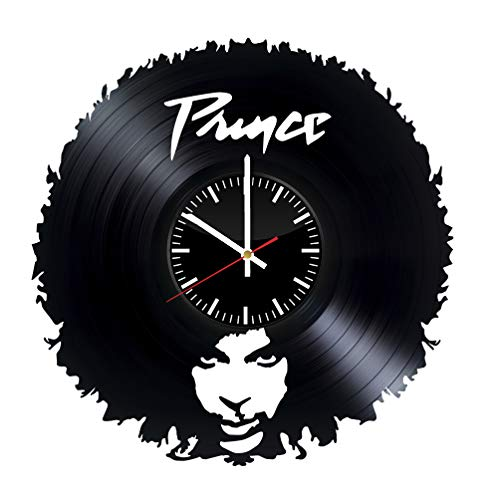 Roger Nelson PRINCE - Laser cut vinyl record wall clock upcycled from an old 12