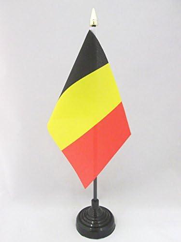 AZ FLAG Bandera de Mesa de BÉLGICA 15x10cm - BANDERINA de DESPACHO ...