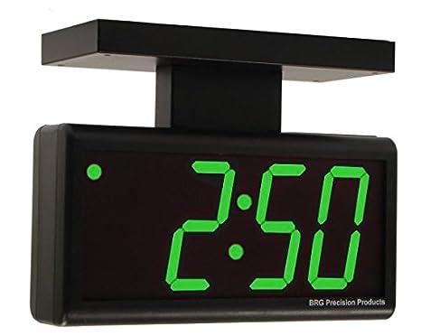 Doble-cara 10,16 cm verde 4 dígitos de alimentación de CA externa LED Digital reloj de pared: Amazon.es: Hogar