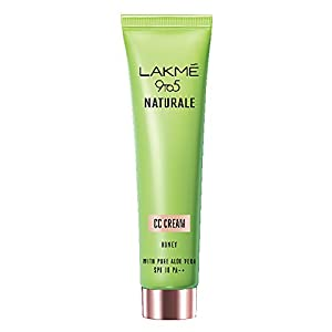 Lakmé 9 To 5 Naturale Cc Cream, Honey, With Pure Aloe Extract, Sp 30 Pa++, 30 g