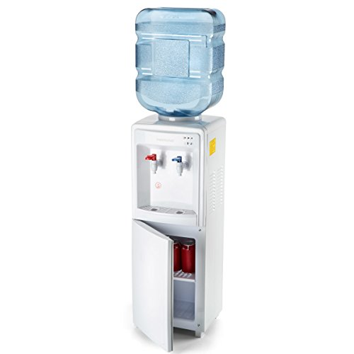 Farberware FW29919 Freestanding Hot and Cold Water Cooler Dispenser - Top Loading Freestanding Water Dispenser with Storage Cabinet, ()