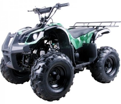 Coolster Brand New 125cc Mid Size Semi Automatic Utility ATV Four Wheeler -  ATV-3125XR8-S - Wheelbase 37 8 inches - Front Brake Hub Brake By