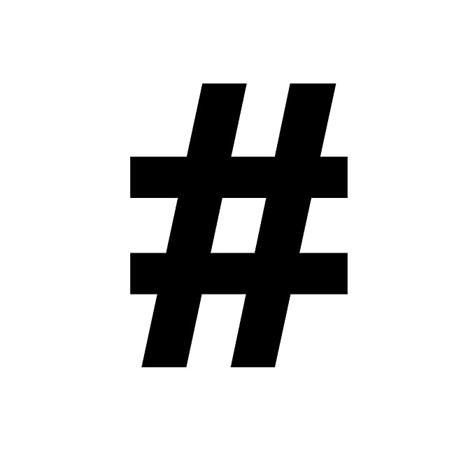 Amazon Pound Sign Hashtag Symbol Keyboard Character 6 Vinyl