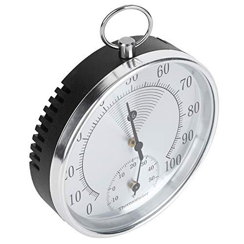 Binnenthermometer Hygrometer Nauwkeurige aflezing Aluminiumlegering Temperatuurvochtigheidstester Wandmontage Kunststof voor broeikas voor magazijn voor kantoor