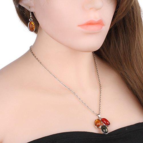 YAZILIND Femmes Chic Noël Perles cadeaux multicolores pendentif collier à breloques Accessoies