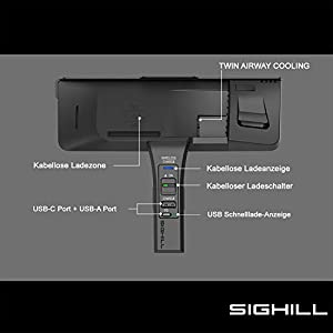 SIGHILL QI Wireless Car Charger, BMW Accessories for X5 X6 All Models of 2014-2018 (Dock X5-F)