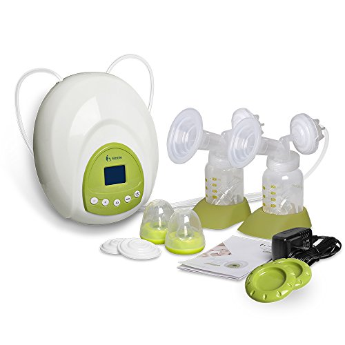 Nibble Double Electric Breast Pump Comfort Breastpump- 10 Levels suction control & LED Display (Double Electric Breast Pump)