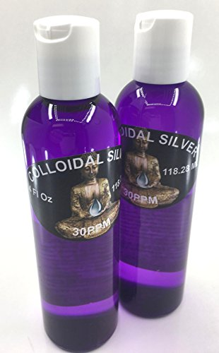2 PACK deal, Colloidal silver 30PPM Homemade, Clear .999 silver purity small batches 4 oz each bottle