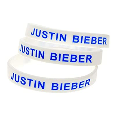 Relddd Silicone Wristbands With Sayings Justin Bieber Believe Rubber Bracelets For J B S Fans Set Pieces Estimated Price £25.99 -