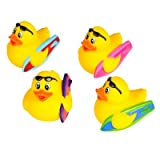 DollarItemDirect Set of 12 ~ Surfer Surf Surfboard Surfing Rubber Duck Ducky Duckie