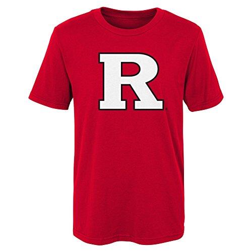 NCAA Rutgers Scarlet Knights Kids Primary Logo Short Sleeve Tee, Kids Large(7), ()