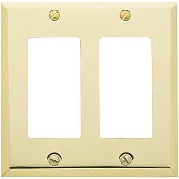 Polished Brass 3 Gang Wall Plate - 2 Toggle 1 GFI/Rocker - Switch ...