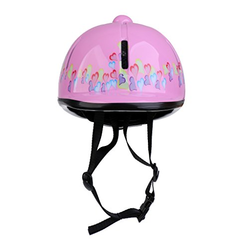 Dolity Kids Schooling Helmet, Toddlers Adjustable Horse Riding Helmet, Young Equestrian Riders Head Protective Gear - -