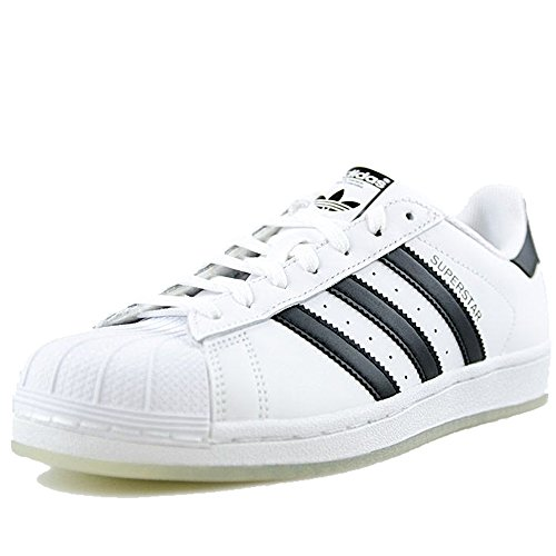 Adidas Originals Mens Superster Sneaker Zwart / Gewaagde Oranje / Wit