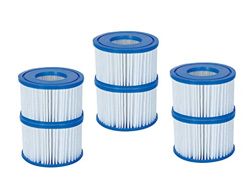 Bestway Spa Filter Pump Replacement Cartridge Type VI (6 Pack) (Hot Tub Spa Pump)