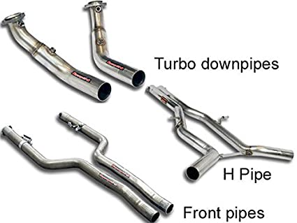 Mercedes CLS500 CLS550 E500 E550 Turbo downpipes for V8