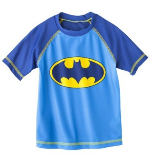 Batman Toddler Boys' Rashguard - Blue/Yellow