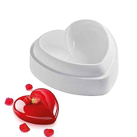 Molde corazon 3D para tartas reposteria postres enamorados tartas dulces.. gelatinas corazon pastel love: Amazon.es: Hogar