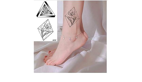 ruofengpuzi Planta De Diamante Saturno Pegatinas De Tatuaje Línea ...