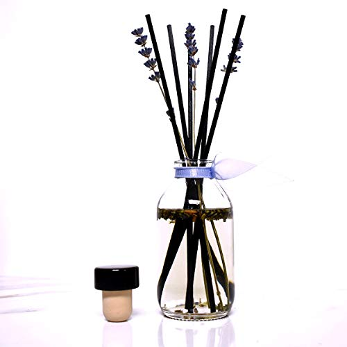 LOVSPA Lightning Deal! Lavender De Provence Essential Oil Reed Diffuser & Sticks Set | Calming Aromatherapy for Stress Relief & Relaxation | Real Lavender Stems! 24 Hour Sale!